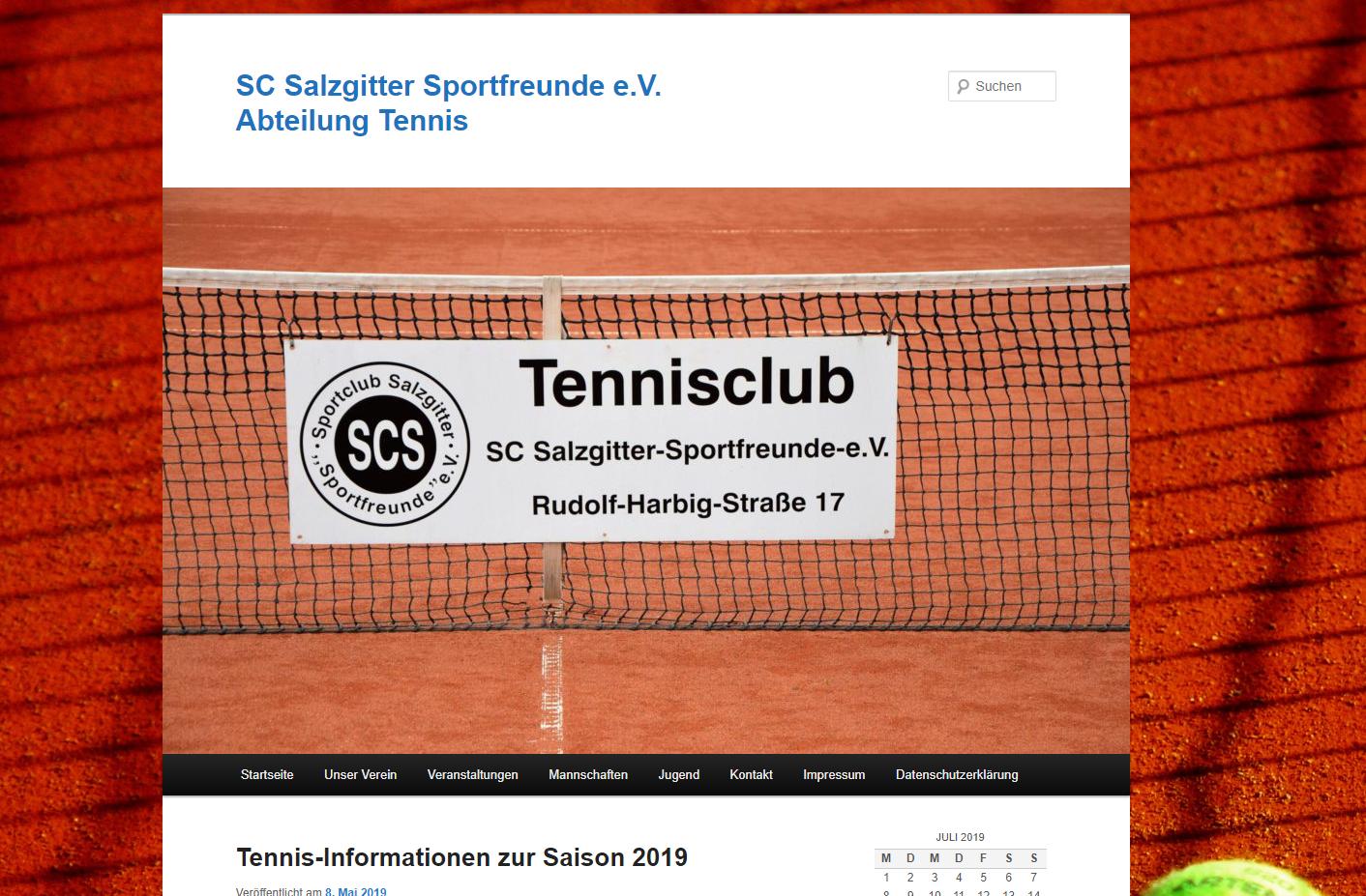 Zur Homepage vom Tennis